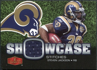 2006 Upper Deck Flair Showcase Stitches Jersey Steven Jackson #SHSSJ