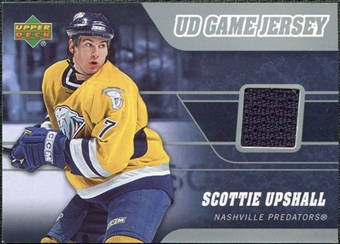 2006/07 Upper Deck Game Jerseys #JSU Scottie Upshall