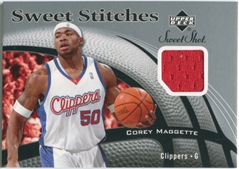 2006/07 Upper Deck Sweet Shot Stitches #CM Corey Maggette