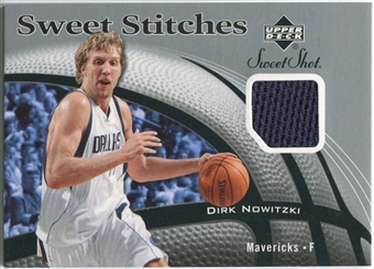 2006/07 Upper Deck Sweet Shot Stitches #DN Dirk Nowitzki