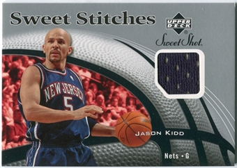 2006/07 Upper Deck Sweet Shot Stitches #JK Jason Kidd