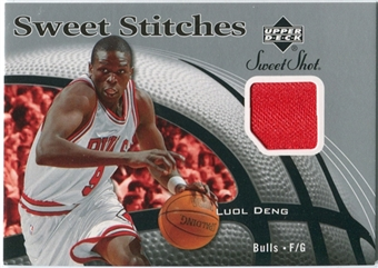2006/07 Upper Deck Sweet Shot Stitches #LD Luol Deng