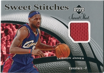 2006/07 Upper Deck Sweet Shot Stitches #LJ LeBron James SP