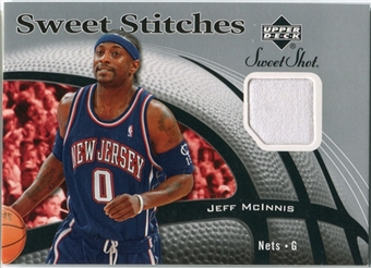 2006/07 Upper Deck Sweet Shot Stitches #MC Jeff McInnis