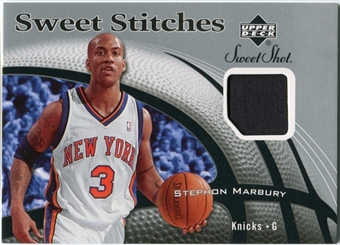 2006/07 Upper Deck Sweet Shot Stitches #SM Stephon Marbury