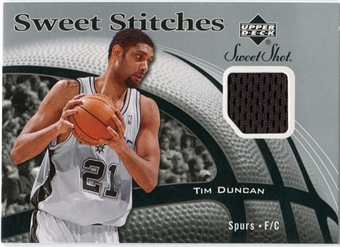 2006/07 Upper Deck Sweet Shot Stitches #TD Tim Duncan