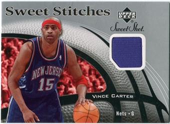 2006/07 Upper Deck Sweet Shot Stitches #VC Vince Carter