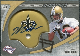2006 Upper Deck Sweet Spot Signatures #HA Mike Hass RC Autograph