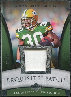 2006 Upper Deck Exquisite Collection Patch Silver #EPAG Ahman Green /50