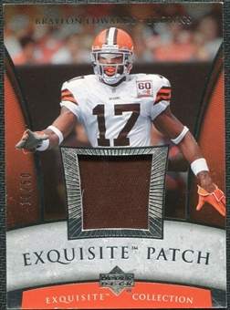 2006 Upper Deck Exquisite Collection Patch Silver #EPBE Braylon Edwards /50