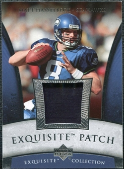2006 Upper Deck Exquisite Collection Patch Silver #EPHA Matt Hasselbeck /50