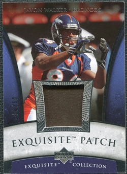 2006 Upper Deck Exquisite Collection Patch Silver #EPJW Javon Walker /50