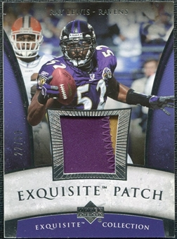 2006 Upper Deck Exquisite Collection Patch Silver #EPRL Ray Lewis /50