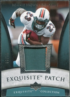 2006 Upper Deck Exquisite Collection Patch Silver #EPRO Ronnie Brown /50