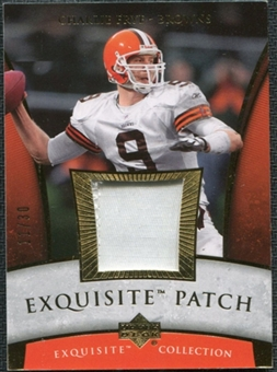 2006 Upper Deck Exquisite Collection Patch Gold #EPCF Charlie Frye /30