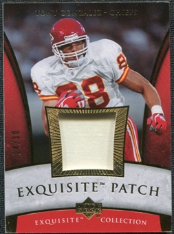 2006 Upper Deck Exquisite Collection Patch Gold #EPGO Tony Gonzalez 14/30