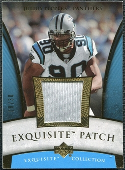 2006 Upper Deck Exquisite Collection Patch Gold #EPJP Julius Peppers 18/30