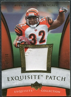 2006 Upper Deck Exquisite Collection Patch Gold #EPRJ Rudi Johnson /30
