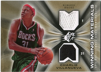 2006/07 Upper Deck SPx Winning Materials #WMCV Charlie Villanueva