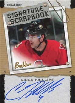 2006/07 Upper Deck Beehive Signature Scrapbook #SSCP Chris Phillips