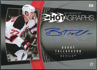2006/07 Upper Deck Hot Prospects Hotagraphs #HBT Barry Tallackson Autograph