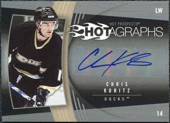 2006/07 Upper Deck Hot Prospects Hotagraphs #HCK Chris Kunitz Autograph