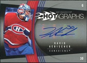 2006/07 Upper Deck Hot Prospects Hotagraphs #HDA David Aebischer Autograph