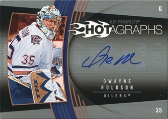 2006/07 Upper Deck Hot Prospects Hotagraphs #HDR Dwayne Roloson