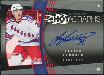 2006/07 Upper Deck Hot Prospects Hotagraphs #HJI Jarkko Immonen Autograph