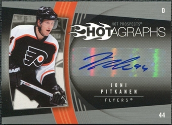 2006/07 Upper Deck Hot Prospects Hotagraphs #HJP Joni Pitkanen Autograph