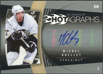 2006/07 Upper Deck Hot Prospects Hotagraphs #HMO Michel Ouellet Autograph