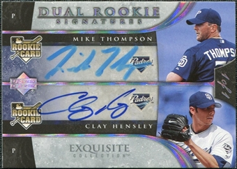 2006 Upper Deck Exquisite Collection Platinum #58 Clay Hensley Mike Thompson Autograph 1/1