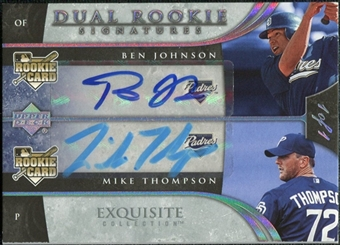 2006 Upper Deck Exquisite Collection Platinum #78 Ben Johnson Mike Thompson Autograph 1/1