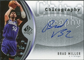2006/07 Upper Deck SP Authentic Chirography #BM Brad Miller Autograph