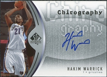 2006/07 Upper Deck SP Authentic Chirography #HW Hakim Warrick Autograph