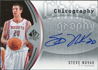 2006/07 Upper Deck SP Authentic Chirography #NO Steve Novak Autograph