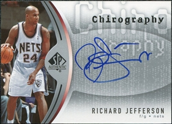 2006/07 Upper Deck SP Authentic Chirography #RJ Richard Jefferson Autograph