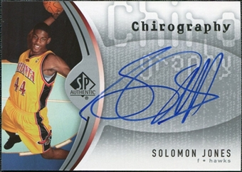 2006/07 Upper Deck SP Authentic Chirography #SJ Solomon Jones Autograph