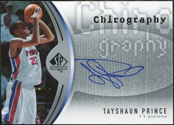 2006/07 Upper Deck SP Authentic Chirography #TP Tayshaun Prince Autograph