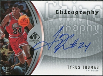 2006/07 Upper Deck SP Authentic Chirography #TT Tyrus Thomas Autograph