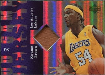 2006/07 Upper Deck UD Reserve Game Patches #KB Kwame Brown