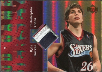2006/07 Upper Deck UD Reserve Game Patches #KK Kyle Korver