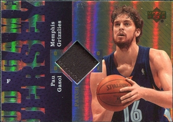 2006/07 Upper Deck UD Reserve Game Patches #PG Pau Gasol