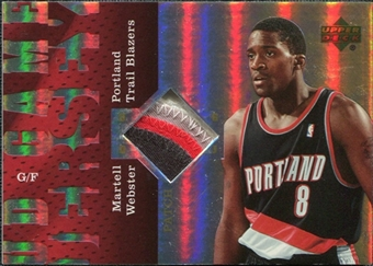 2006/07 Upper Deck UD Reserve Game Patches #WE Martell Webster