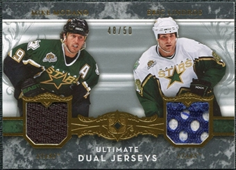 2006/07 Upper Deck Ultimate Collection Jerseys Dual #UJ2ML Mike Modano / Eric Lindros /50