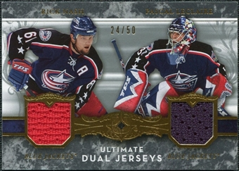 2006/07 Upper Deck Ultimate Collection Jerseys Dual #UJ2NL Pascal LeClaire / Rick Nash /50