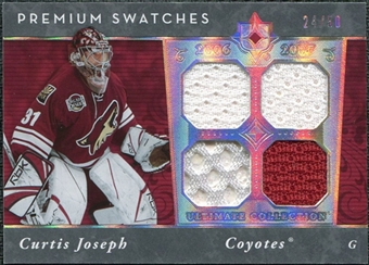 2006/07 Upper Deck Ultimate Collection Premium Swatches #PSCJ Curtis Joseph 24/50