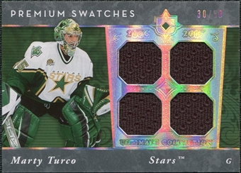 2006/07 Upper Deck Ultimate Collection Premium Swatches #PSMT Marty Turco /50