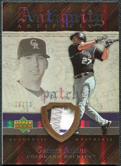 2007 Upper Deck Artifacts Antiquity Artifacts Patch #AT Garrett Atkins /50