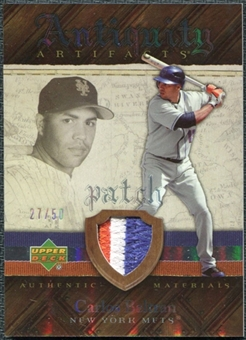 2007 Upper Deck Artifacts Antiquity Artifacts Patch #BE Carlos Beltran /50